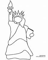 Liberty Statue Coloring Pages Printable Cartoon Kindergarten Afghan Twin Towers York Easy Colouring Drawing Spirit Holy Shala Cliparts Gifts Sheet sketch template