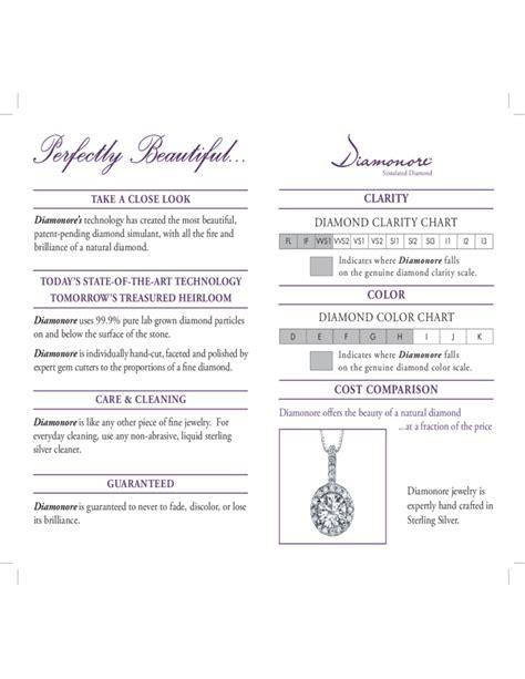 diamond clarity  color chart tempate