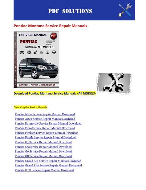 car repair manuals online free 2006 pontiac montana head up display pontiac montana service repair manuals by nissanexpert issuu