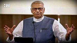 AAP leaders, workers march to LG office, Yashwant Sinha ...