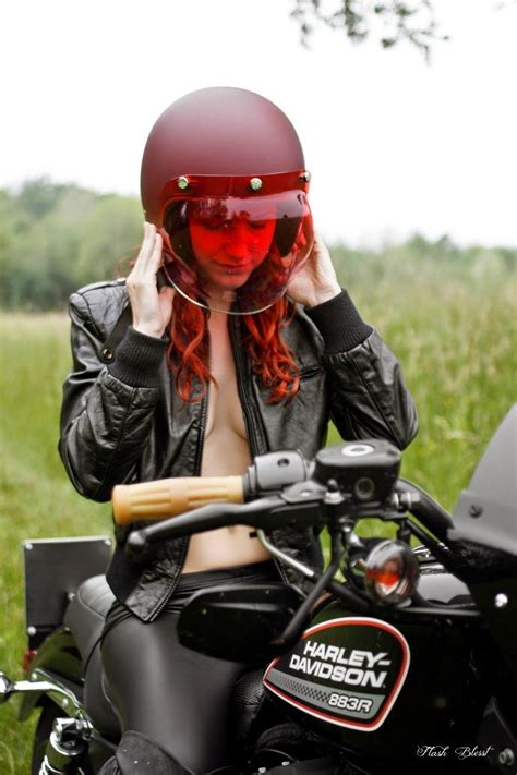 harley cafe racer motorcycles girls