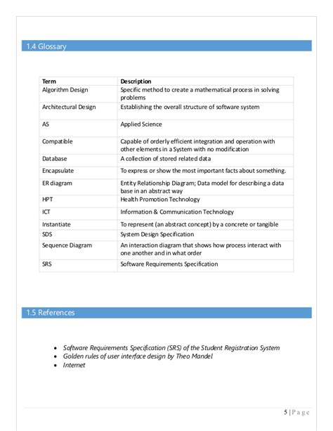 software design document exle for sds document in software engineering