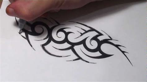 create  hidden tribal  tattoo design youtube