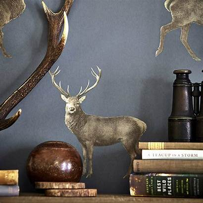 Sanderson Deer Evesham Elysian Wallpapers Eversham Indigo