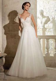 Romantic Ivory Organza Wedding Dress …