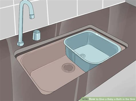 baby bath sink insert 3 ways to give a baby a bath in the sink wikihow