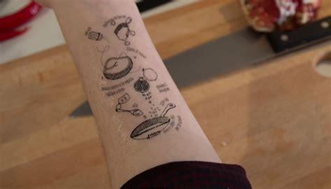 tatouage cuisine recetas una idea a flor de piel cocina y vino