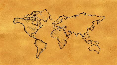 world map sketch   paper looping animation motion