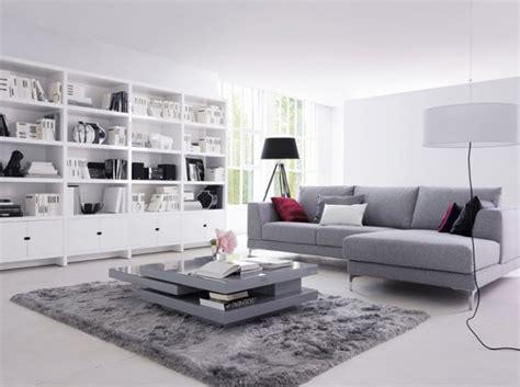 deco salon canape gris style ambiance salon gris et