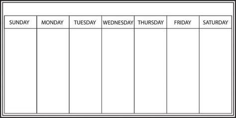 Whiteboard Weekly Calendar Decal- Window Film World