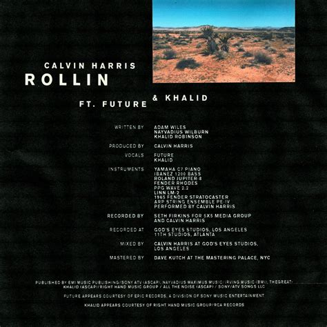 Stream Calvin Harris' New Single 'rollin' With Future