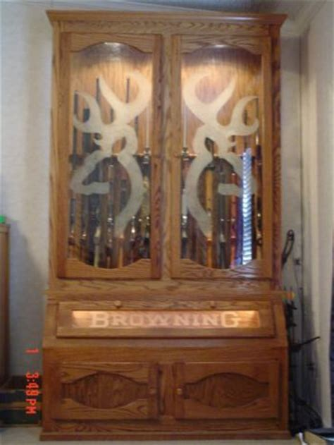 wood gun cabinet with deer etched glass 1000 images about its a browning thing on