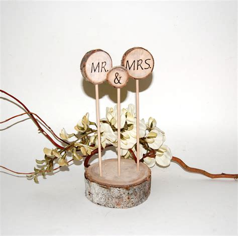 Rustic Cake Topper Aspen Cake Decoration Mr And Mrs By