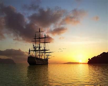 Sailing Ship Sunrise Wallpapers Ships Sunset Sail