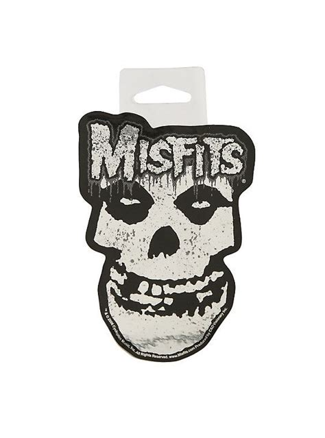 Misfits Chrome Fiend Skull Sticker | Skull sticker, Skull ...
