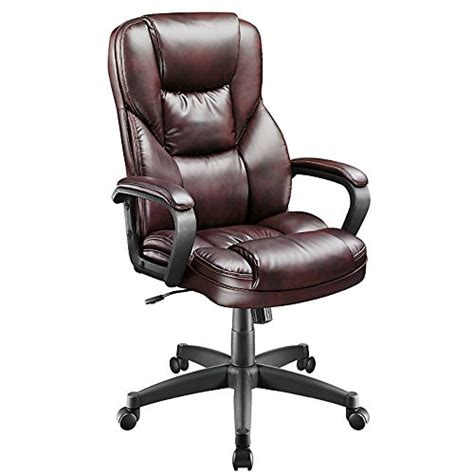 Realspace Fosner Highback Bonded Leather Chair, Cabernet