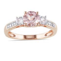pink wedding rings 1 carat and morganite engagement ring in pink gold jewelocean