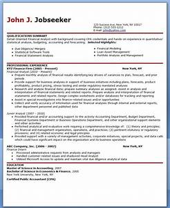 financial analyst resume sample career life pinterest With sample resume of a financial analyst