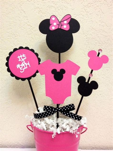 minnie mouse baby shower decorations minnie mouse baby shower decoration centerpieces its a pink dot bebe and babyshower