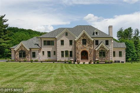 10,000 Square Foot Brick & Stone Mansion In Great Falls