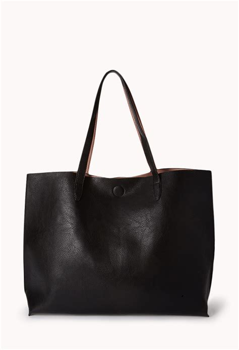 Cooler Bag Model Totte Kode 1 lyst forever 21 everyday faux leather tote in black