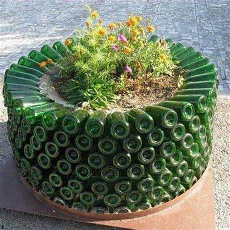 wine bottle garden 19 sustainable diy wine bottle outdoor decorating ideas