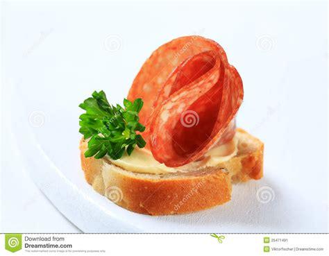 canape stock salami canape stock image image 25471491