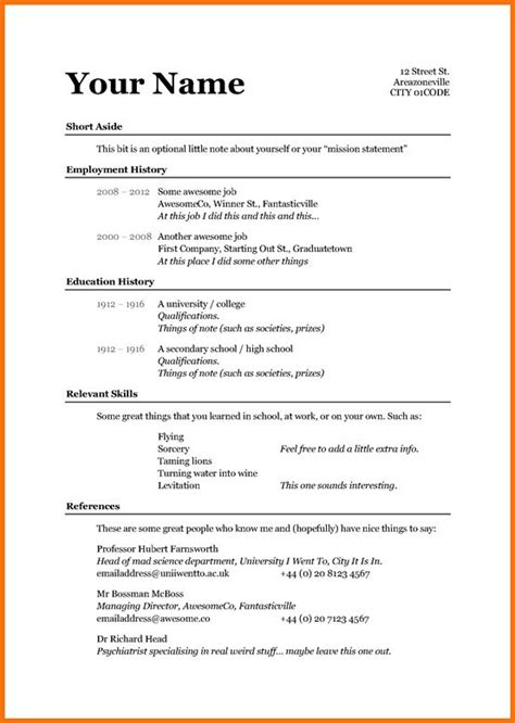 basic resume  andriblogdesign   resume