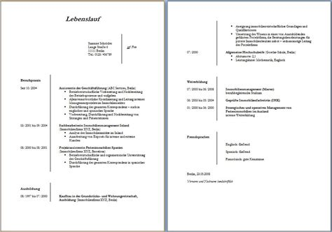 Vorlage Lebenslauf Word 2016 by Lebenslauf Vorlage Word Dokument Blogs