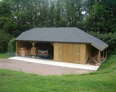 Two Open Carports, Enclosed Garage. Bitumen Felt Slate