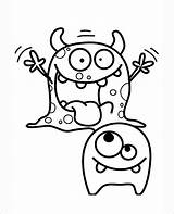 Monsters Coloring Pages Moshi Templates Template Monster Colouring Printable Cartoon Dance sketch template