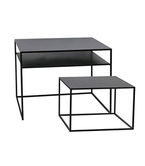black round coffee table set set of 2 round nesting tables wood and black metal