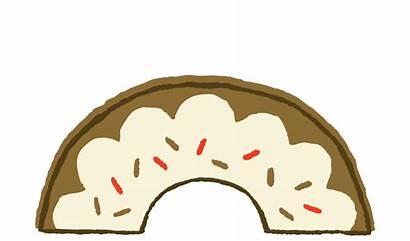 Donut Half Clipart Eaten Clip Donuts Transparent