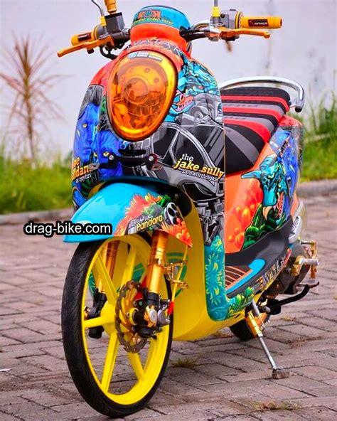 Modifikasi Scoopy 2017 Hitam Putih by 40 Foto Gambar Modifikasi Scoopy Thailook Simple Jari Jari