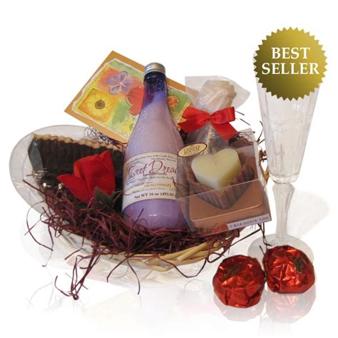pampering spa gift basket scented oil candle soap cream