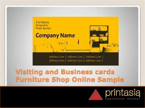 furniture shop visiting cards designs printasiain