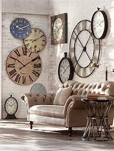 Grande Horloge Murale Design : 45 id es pour le plus cool horloge g ante murale ~ Nature-et-papiers.com Idées de Décoration