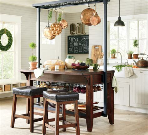 Kitchen Island With Pot Rack - beautiful kitchen islands with bench seating designing idea