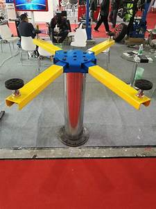 Pneumatic And Hydraulic Single Post Car Lift In Ground
