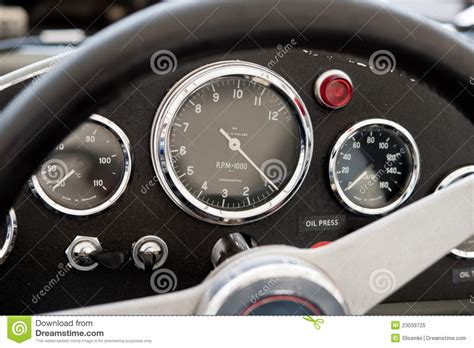 70's Race Car Dashboard Stock Image. Image Of Briefs