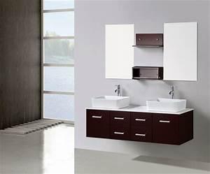 Meuble Salle De Bain Moderne : le meuble sous lavabo 60 id es cr atives ~ Nature-et-papiers.com Idées de Décoration