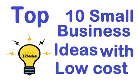 Top 10 Small Business Ideas Youtube