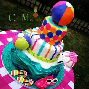 Pool party theme cake | Parties Ideas | Pinterest | Theme ...