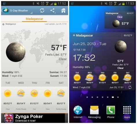 widget android android apps 5 astonishing weather widgets newsinitiative