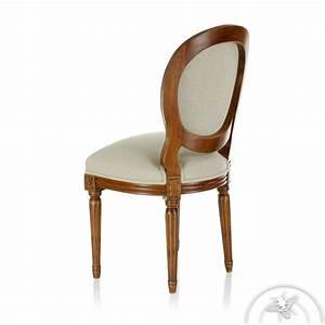 Chaise En Solde : chaise louis xvi tissu beige monceau saulaie ~ Teatrodelosmanantiales.com Idées de Décoration