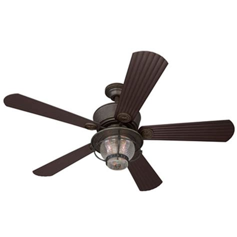 porch ceiling fans with lights shop harbor breeze merrimack 52 in antique bronze indoor