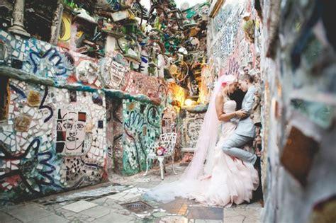 wedding at philadelphia s magic gardens