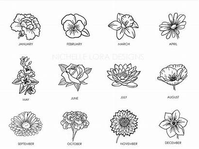Flower Birth Drawing July Month Google Tattoos