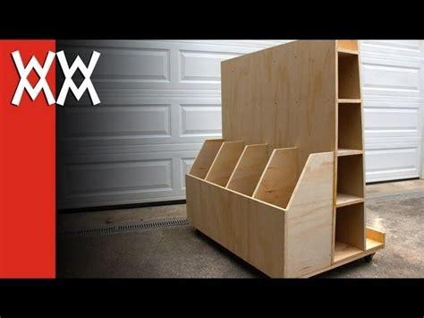 build  lumber storage cart  hold  sheet plywood