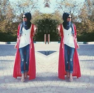 Long cardigans and vests hijab trends u2013 Just Trendy Girls